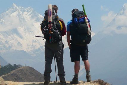 Cricket bats ahead of Everest